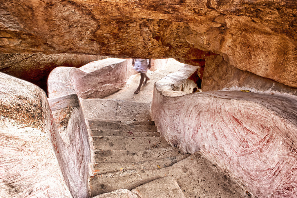 Hampi - Escalier